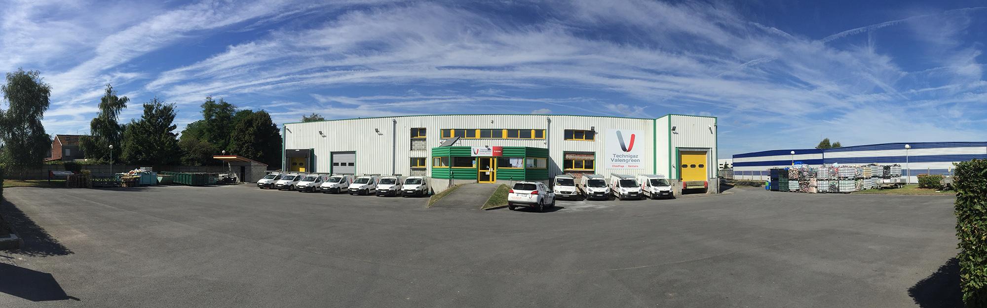 Locaux de Technigaz Valengreen SAS plombier chauffagiste expert Valenciennes